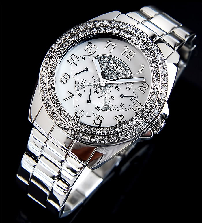 100% NEW Guess lady Swarovski crystal watch G11040L