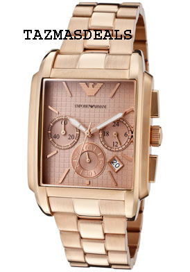 NEW MENS EMPORIO ARMANI ROSE GOLD SPORTS WATCH AR0322      Zoom