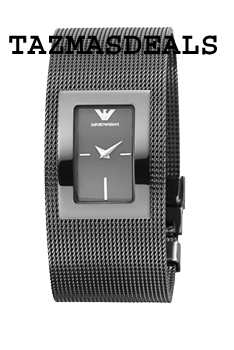 AR0794 WOMEN'S EMPORIO ARMANI Grey mesh WATCH NEW