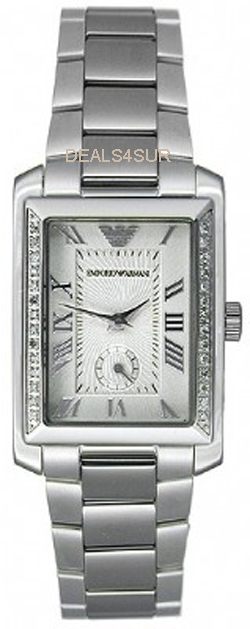 100% AUTHENTIC EMPORIO Armani  28 DIAMOND WATCH AR3156