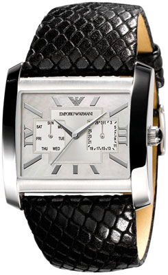 100% Authentic EMPORIO ARMANI BLACK LEATHER LADIES WATCH AR5767