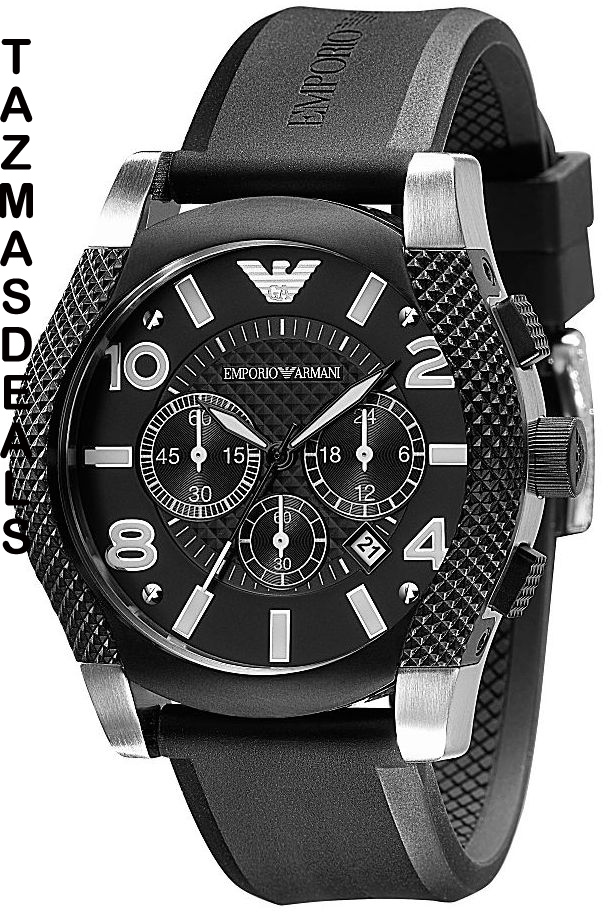 100% AUTHENTIC Armani men watch knurled chrono AR5839