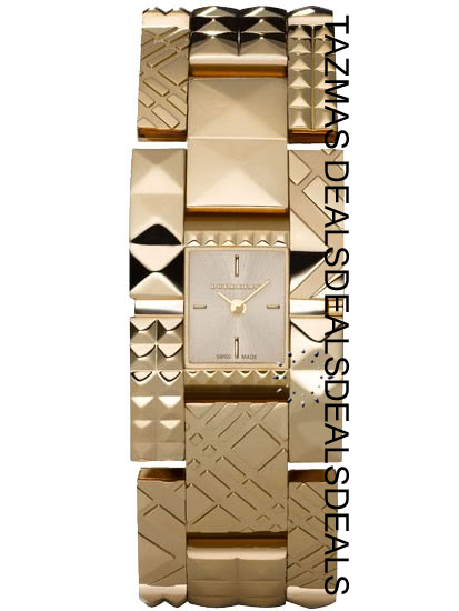 AUTHENTIC BURBERRY womens Gold tone watch BU1177 'NEW'