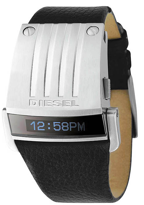 DIESEL WATCH BLACK LEATHER FOR MEN AN WOMEN DZ7079