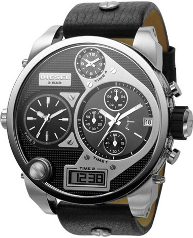Diesel Time Zone Watch Black/ Black One Size DZ7125