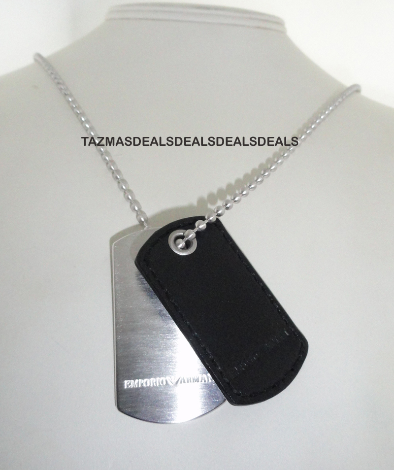 2011 EMPORIO ARMANI DOG TAG SILVER NECKLACE UNIQUE