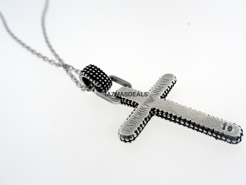 NEW 2011 EMPORIO ARMANI CROSS SILVER NECKLACE UNIQUE