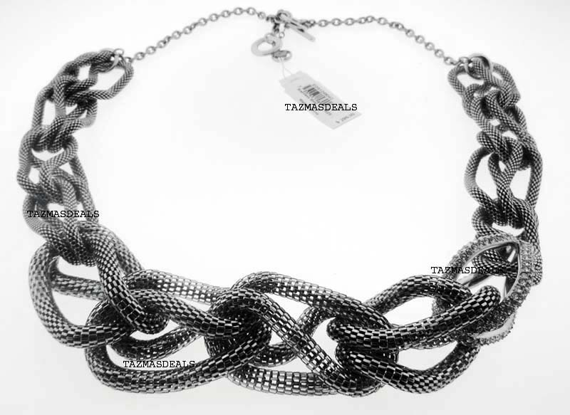 2011 EMPORIO ARMANI NECKLACE STEEL EGS12480 $295.00