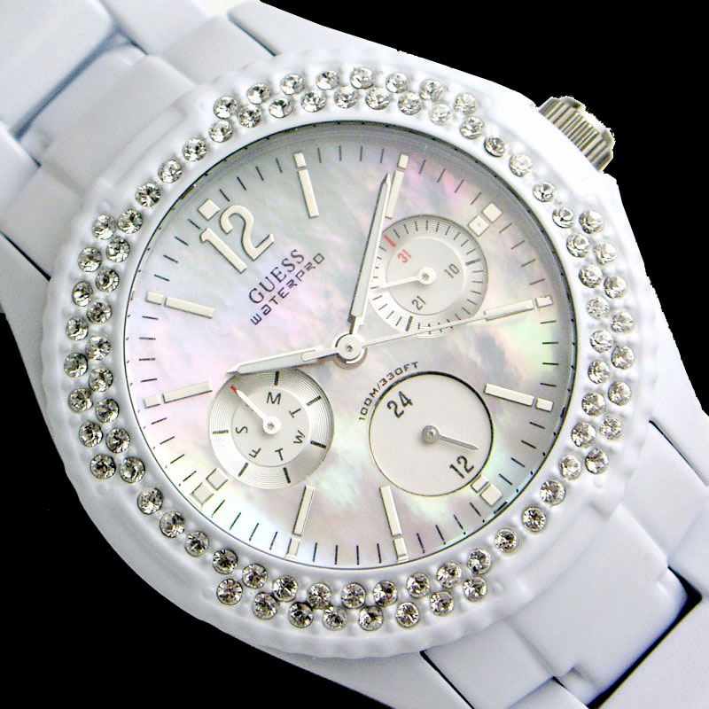GUESS WOMEN WATCH SWAROVSKI G12543L COLLECTION CANDY ROCK