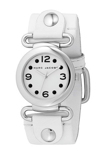 Marc By Marc Jacobs MBM1000 LEATHER SILVER FACE Watch