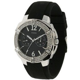 Guess WOMEN SWAROVSKI CRYSTAL FACE RUBBER BAND U10518L2