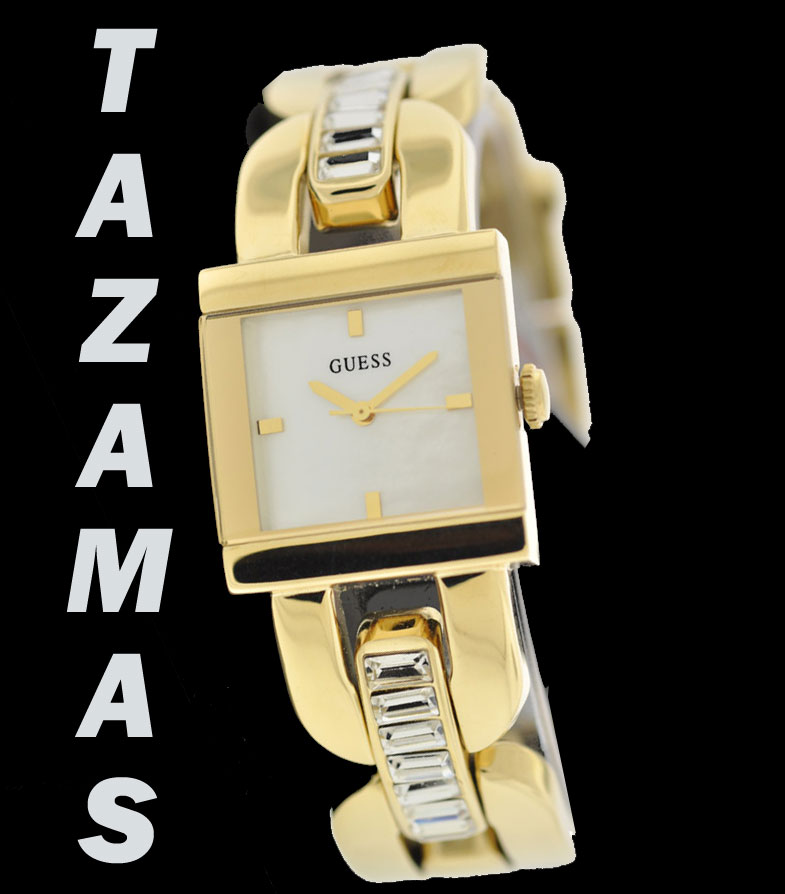 AUTHENTIC GUESS WATCH WOMEN GOLD TONE CRYSTAL FACE  U10530L1