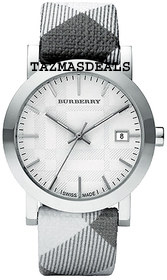 NEW Burberry White and Grey Ladies watch Style BU1798