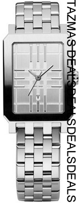 AUTHENTIC BURBERRY WOMEN'S silver tone watch bu1901 NEWAUTHENTIC