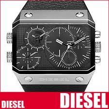 Diesel Triple Timer Black Dial Mens Watches dz9060