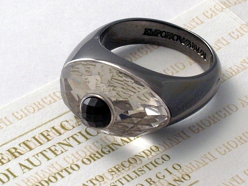 UNIQUE EMPORIO ARMANI RING 925 SILVER Size 6.5