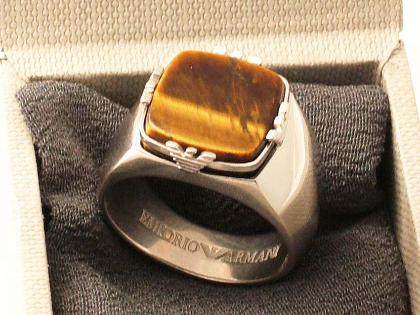 Emporio Armani MEN SILVER UNIQUE RING 2009 COLL SIZE  8.5