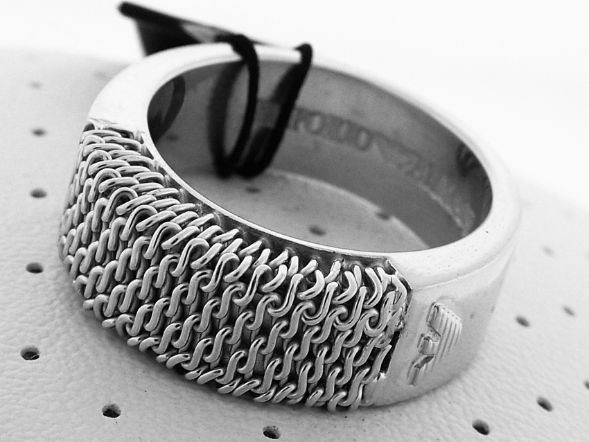 Emporio Armani MEN SILVER UNIQUE RING 2009 COLL SIZE 11