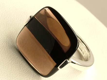 AUTHENTIC EMPORIO ARMANI EG2152 RING 925 SILVER MEN
