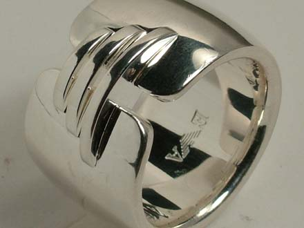 AUTHENTIC EMPORIO ARMANI RING 925 SILVER Size 5